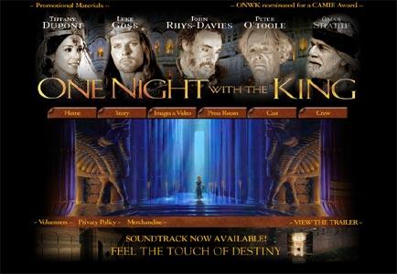 """Portal de la película """"Una noche con el Rey"""""""
