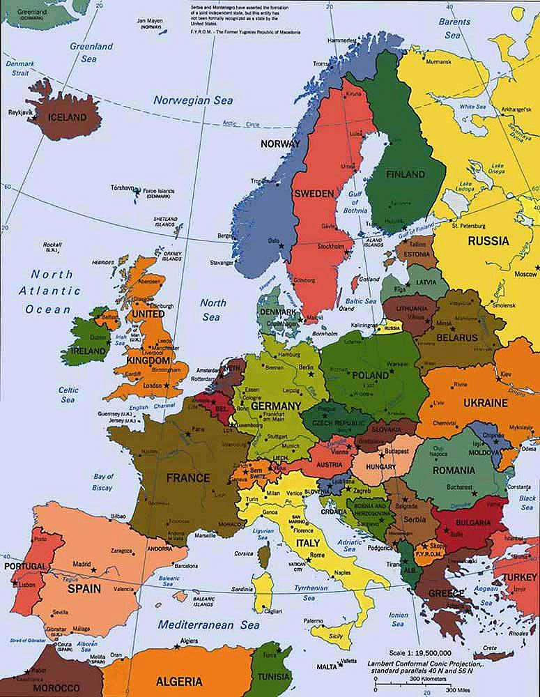 Mapa De Europa Ampliado